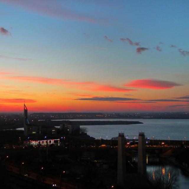 Apus de soare în București